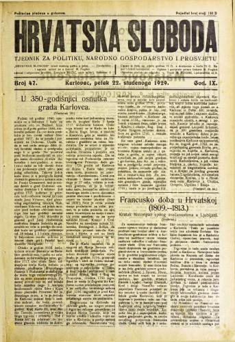 Hrvatska sloboda: 1929. • 47