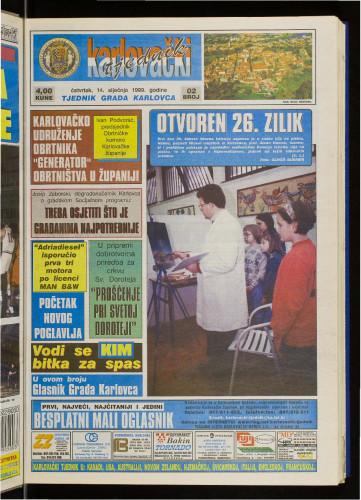 Karlovački tjednik: 1999 • 2