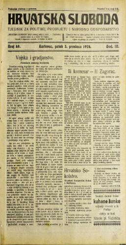 Hrvatska sloboda: 1924. • 49