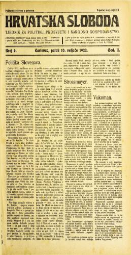 Hrvatska sloboda: 1922 • 6
