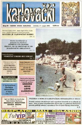 Karlovački tjednik: 2000 • 29