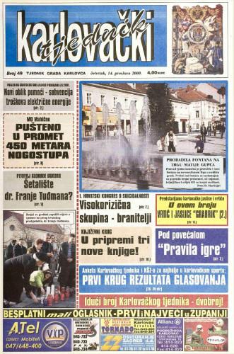Karlovački tjednik: 2000 • 49