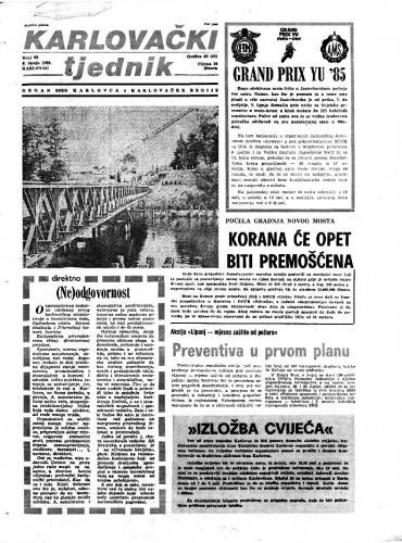 Karlovački tjednik: 1985 • 22