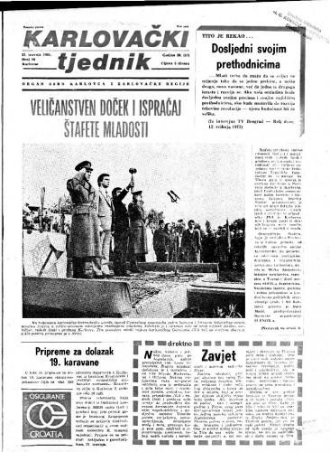 Karlovački tjednik: 1981 • 16