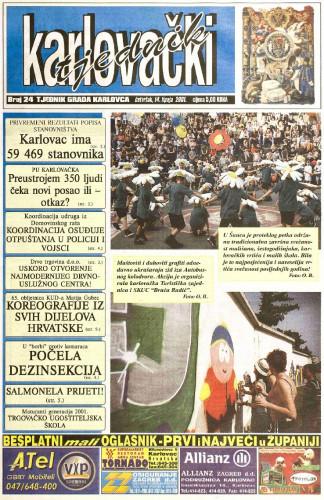 Karlovački tjednik: 2001 • 24