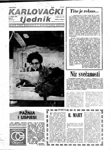 Karlovački tjednik: 1981 • 9