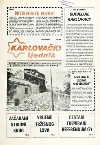 Karlovački tjednik: 1989 • 40