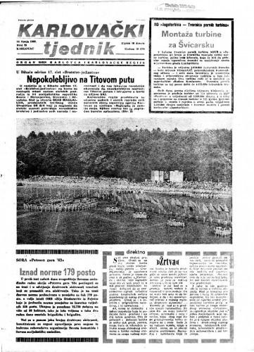 Karlovački tjednik: 1983 • 23