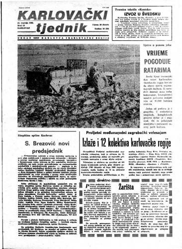 Karlovački tjednik: 1983 • 15