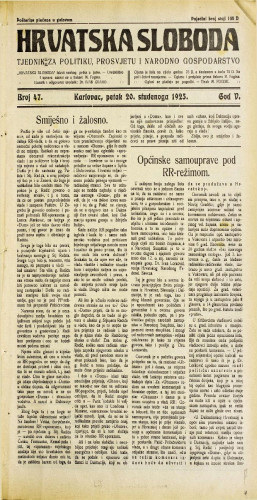Hrvatska sloboda: 1925. • 47