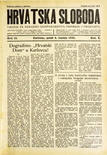 Hrvatska sloboda: 1930. • 13