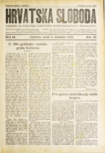 Hrvatska sloboda: 1929. • 40
