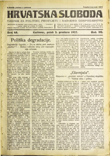 Hrvatska sloboda: 1927. • 48