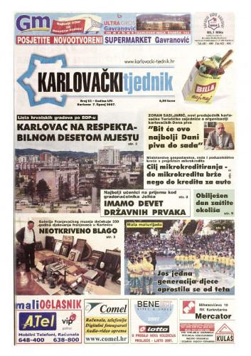 Karlovački tjednik: 2007 • 23