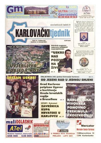 Karlovački tjednik: 2007 • 14
