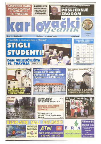 Karlovački tjednik: 2004 • 15