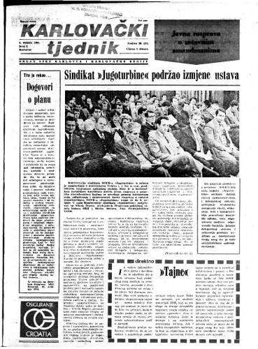 Karlovački tjednik: 1981 • 5