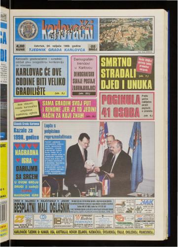Karlovački tjednik: 1999 • 5