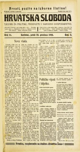 Hrvatska sloboda: 1922 • 51