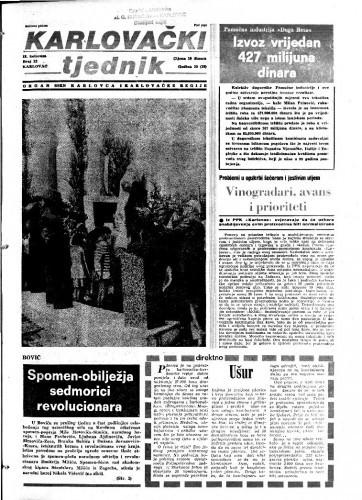 Karlovački tjednik: 1983 • 32