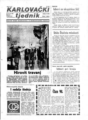 Karlovački tjednik: 1982 • 15