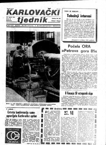 Karlovački tjednik: 1981 • 25