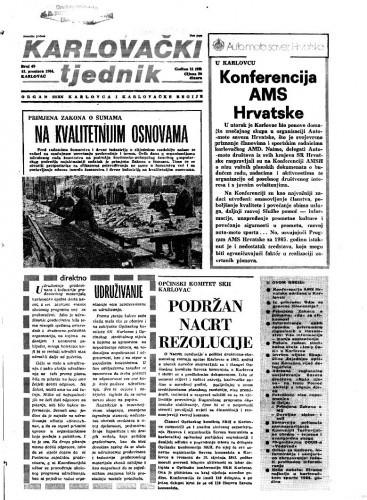 Karlovački tjednik: 1984 • 49