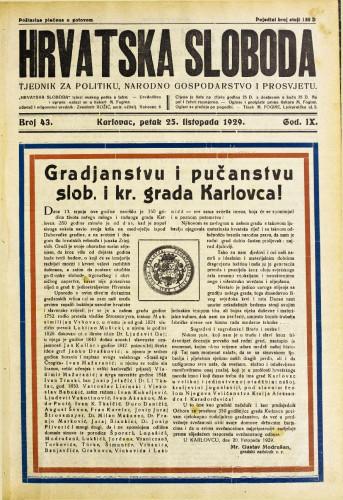 Hrvatska sloboda: 1929. • 43