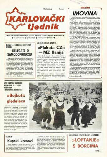 Karlovački tjednik: 1989 • 25