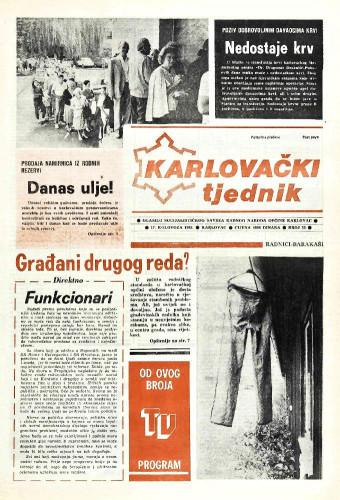Karlovački tjednik: 1989 • 33