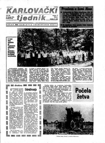 Karlovački tjednik: 1984 • 28