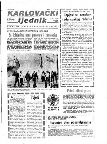 Karlovački tjednik: 1984 • 35