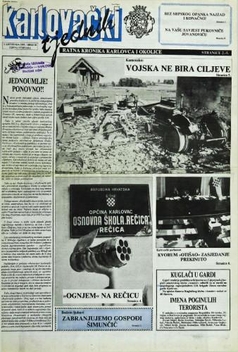 Karlovački tjednik: 1991 • 40
