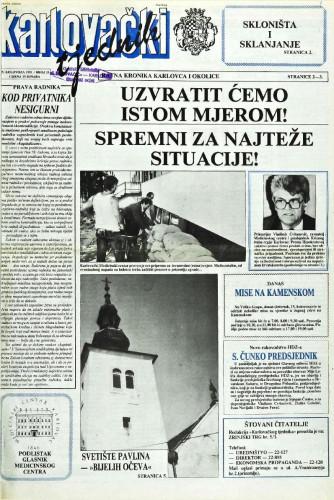 Karlovački tjednik: 1991 • 33