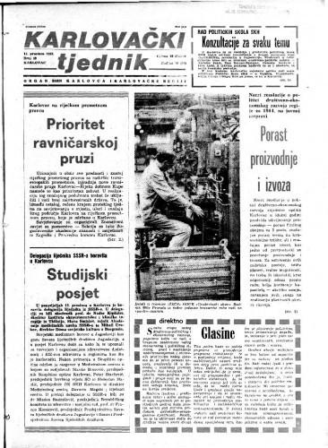 Karlovački tjednik: 1983 • 49