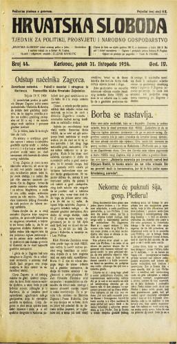 Hrvatska sloboda: 1924. • 44