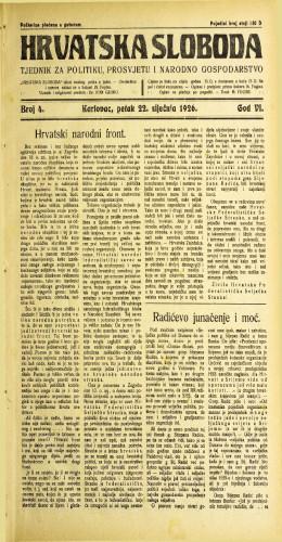 Hrvatska sloboda: 1926. • 4