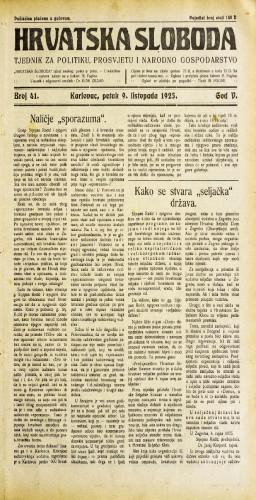 Hrvatska sloboda: 1925. • 41