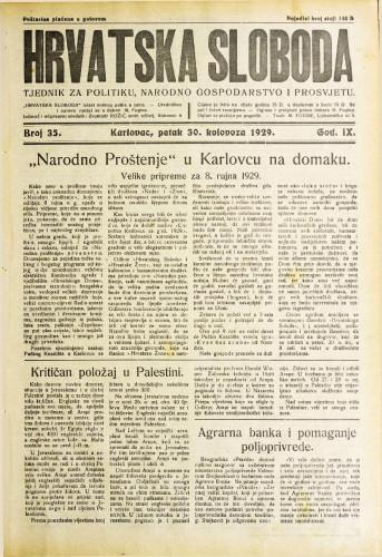 Hrvatska sloboda: 1929. • 35