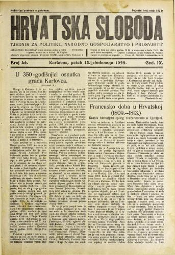 Hrvatska sloboda: 1929. • 46