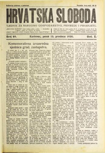 Hrvatska sloboda: 1930. • 49