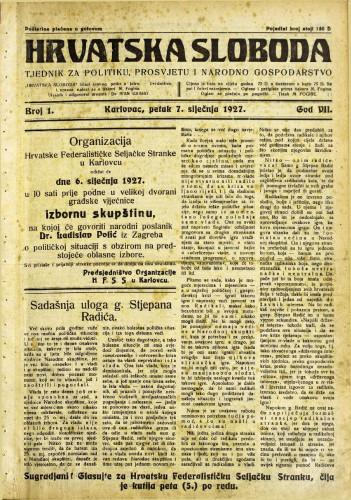 Hrvatska sloboda: 1927. • 1