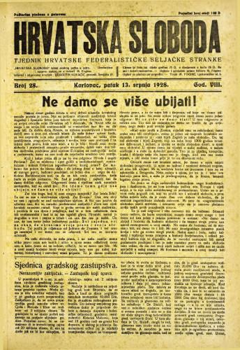 Hrvatska sloboda: 1928. • 28