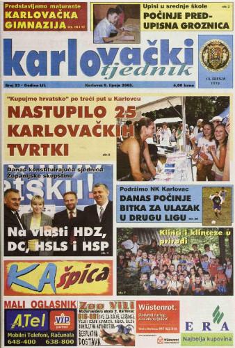 Karlovački tjednik: 2005 • 23