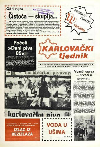 Karlovački tjednik: 1989 • 36