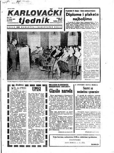 Karlovački tjednik: 1985 • 26