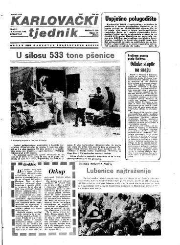 Karlovački tjednik: 1984 • 31