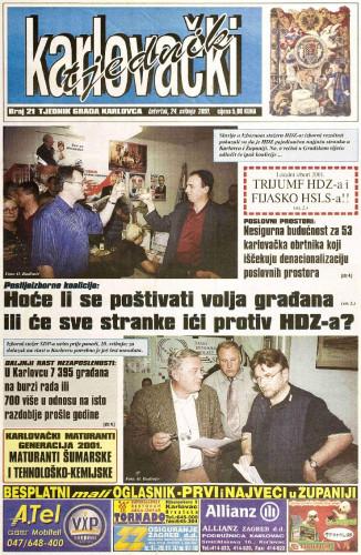 Karlovački tjednik: 2001 • 21