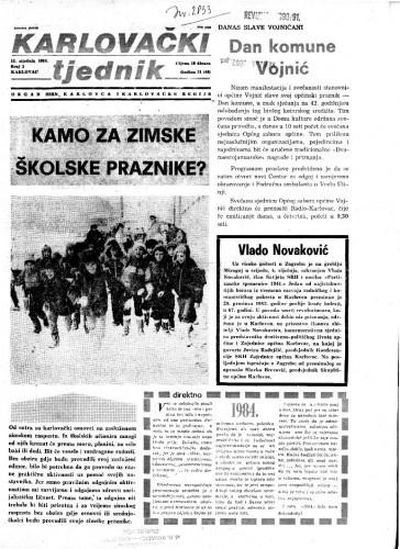 Karlovački tjednik: 1984 • 1