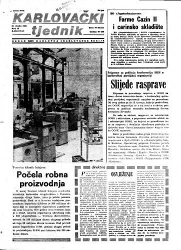 Karlovački tjednik: 1983 • 12